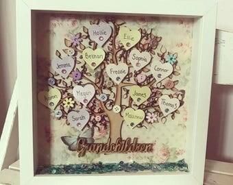 Grandchildren Family Tree Frame • Grandparent Gift