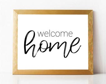 Critical image pertaining to welcome home sign printable
