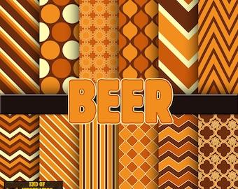beer digital paper, background, scrapbook paper