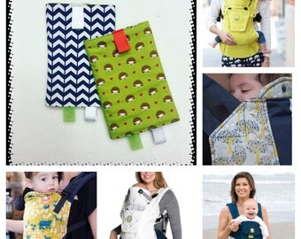 WOODLAND - FOREST - FRIENDS - Hedgehog - Kinderpack - Tula - Lillebaby - Drool Pads - Suckpads - Bib - Pacifier - Gender Neutral - Accessori
