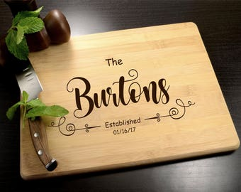 Engraved Cutting Board - Personalized Anniversary Gift - Custom Wooden Cutting Board - Wedding Gift - Eco-Friendly Housewarming Gift