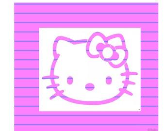 Custom Stencils - Hello Kitty Stencil