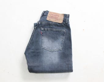 Mom Levis Jeans 80s Tapered Loose Fit Levis Jeans 501 90s Denim High Waist Pants Button Fly Trousers Classic Vintage Waist W28 L30 Medium