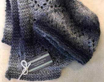 shades of blue scarf and hat