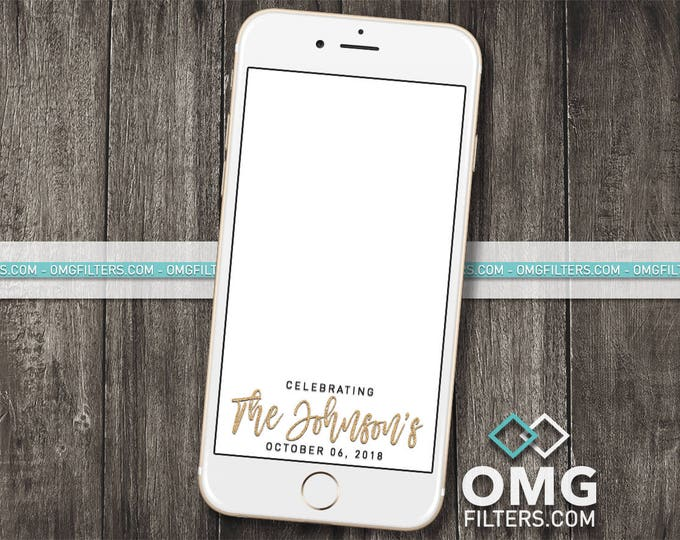 Wedding Filter 1 - Custom Snapchat Geofilter - Any Wording!