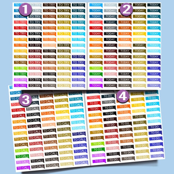 Printable Stickers | Planner Sticker Printables | Printable Label, Printable Stickers for Erin Condren Planners | Planner Stickers Dowload