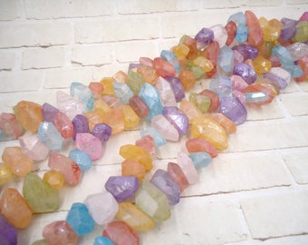 Rainbow Quartz Nugget - Rainbow Quartz Bead - Colorful Quartz Bead - Rainbow Quartz Crystal - Aura Quartz Strand - Quartz Crystal Point Bead