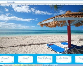 vacation planner excel