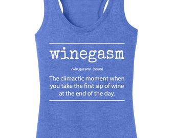 Women's Winegasm Definition Racerback Tanktop