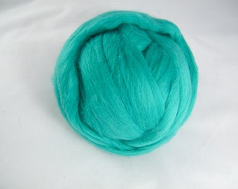 Mint and Teal Green Merino Roving - 21.5 Micron - Next to Skin Softness - Vibrant, Rich Colour