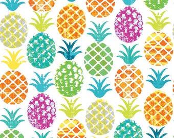 Fabric Djimini pineapple - Pineapple fabric - fabric fruit - exotic fabric - 100% cotton fabric - 1/2 meter
