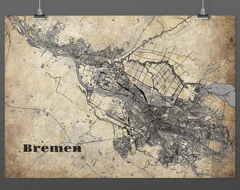 Bremen DIN A4 / DIN A3 - print - turquoise