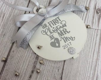 Mr & Mrs First Christmas Bauble