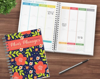 Floral Moms Manager 2018 Daily Weekly Monthly Planner Agenda