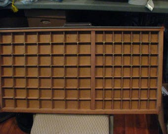 Vintage Printer Drawer, Letterpress Tray. Rare, Brass connectors