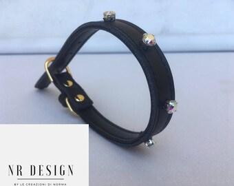 Handmade appliqué dog collar