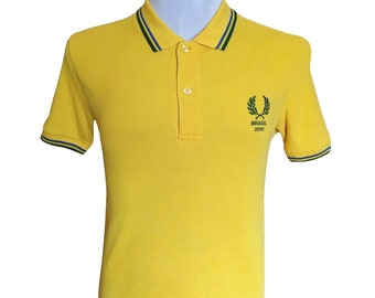 Hot Sale!!! Rare Authentic FRED PERRY BRASIL 2010 Limited Edition World Cup Tipped Polo Shirt Hip Hop Skate Swag Medium Size