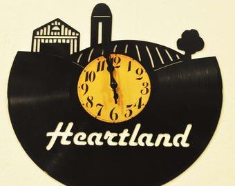 Farming-Heartland vinyl record clock *FREE SHIPPING*