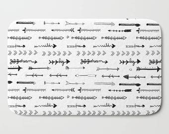 Bathroom Rug Etsy - Black and white tribal bath mat for bathroom decorating ideas