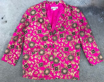Vintage 80's SK & Company Women's Pattern Blazer