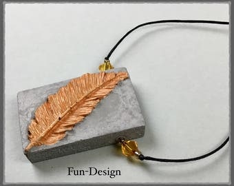 """Chain """"Spring"""", concrete with orange accents"""