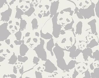PRESALE!! Cotton Jersey/Knit Pandalicious Pandalings Pod Shadow  - Art Gallery / Sold by the half METRE / UK seller