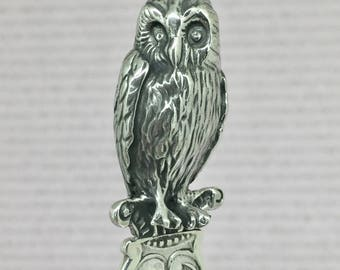 Letter opener with owl on top, perfect graduation gift, dutch 925 silver