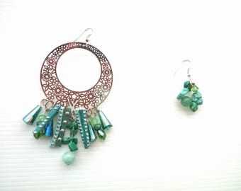 Asymmetric Gypsy earrings
