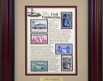 Civil Engineer 420 - Unique Framed Collectible (A Great Gift Idea) with Personalized Engraved Plate