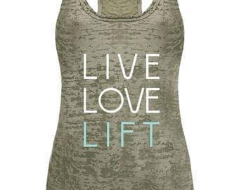 Women's Live Love Lift Burnout Tank Top