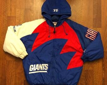 Vintage New York Giants Sharktooth Jacket Size XL Logo Athletics