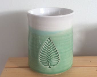 Gift for Cook, Handmade Pottery Ceramic Utensil Holder, Big Spoon Jar, Kitchen Crock, Spoon Jar, Kitchen Gift, In Stock, Ready to Ship