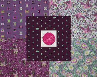 NEW Spirit Animal Purple FQ Bundle by Tula Pink