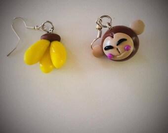 original monkey stud earring