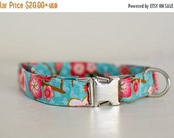 Dog Collar-Floral Dog Collar-Flower Dog Collar-Girly Dog Collar-Female Dog Collar-Pink Dog Collar-Blue Dog Collar-Cute Dog Collar-Custom