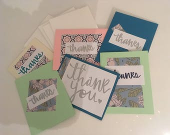 Handmade small thank you cards