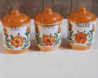 Vintage French Kitchen Storage Jars
