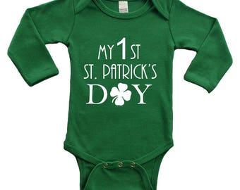 Long Sleeve Bodysuit - My 1st St. Patrick's Day