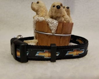 Chevy Handmade Dog Collar 5/8 Inch Wide Medium & Small