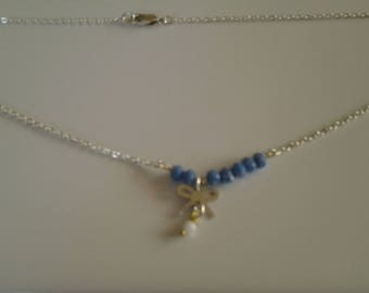 A Crystal stone and sterling silver Choker