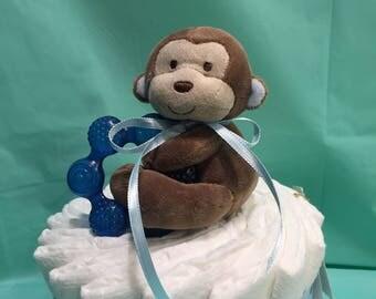 Adorable Monkey Mini Diaper Cake!