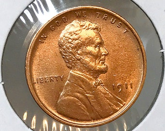 1911 P Lincoln Wheat Cent - Gem BU / MS RD / Unc