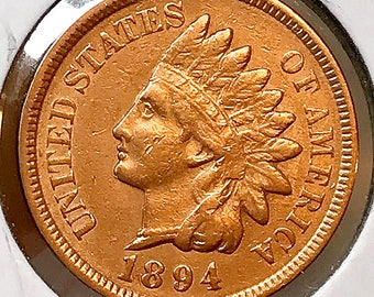 1894 Indian Head Cent - AU / BU