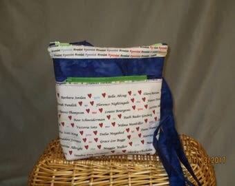 Quirky Messenger Bag (Notable Women, Blue)
