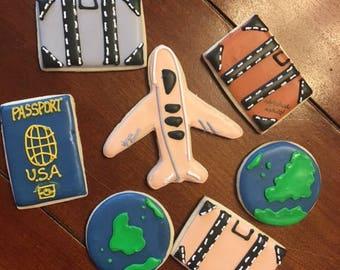 Passport Around the World Travel Cookies