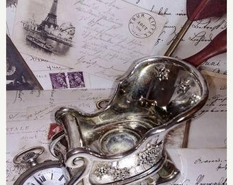 On sale Vintage International Silver Company Sleigh Candle Holder - candle holder - silver candle holder