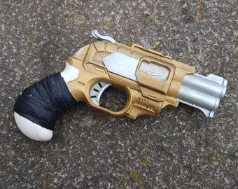 Nerf Doublestrike Steampunk Derringer. For cosplay