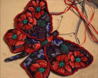 Large Butterfly - long matching ribbons