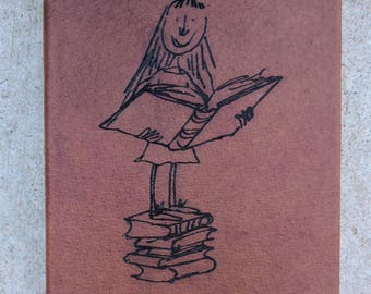 Matilda by Roald Dahl-Leather Bound and Lasered Book