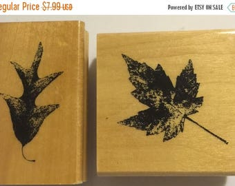 PRE-SUMMERSALE Set of 2 leaf stamps by Anita's